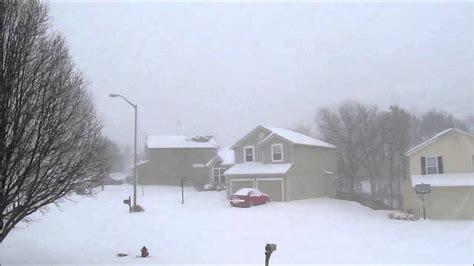 Kansas City Winter Snow Storm Q Feb 21 2013 YouTube