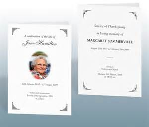 wording for funeral program funeral stationery exles bereavement printing