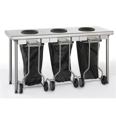 poubelle cuisine 2 bacs tri des déchets tournus équipement