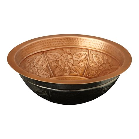 hammered copper l signature hardware 16 quot tansy hammered copper sink ebay