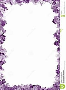 Purple Flower clipart frame design - Pencil and in color ...