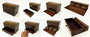 Making of a little walnut chest with secret compartments