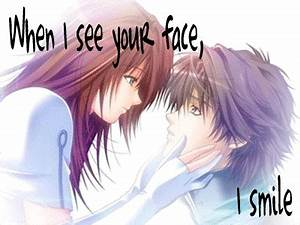 anime love quotes quotesgram. cute anime couples cuddling ...