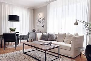 black and white living room interior design ideas With black and white living room