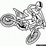 Coloring Dirt Bike Pages Printable sketch template