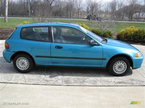 1992 Harvard Blue Pearl Honda Civic Dx Hatchback 27805114