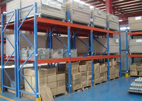 multi level industrial steel storage racks custom size metal racking systems