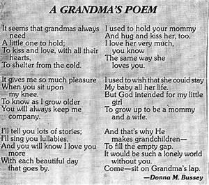 """A Grandma's Poem"" by Donna M. Bussey | Grandkids ..."