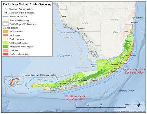 florida keys map national marine sanctuaries