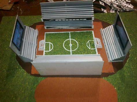 como hacer maquetas dos modelos de estadio en reciclaje