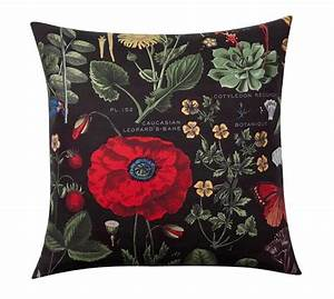poppy botanical print pillow cover pottery barn With botanical print pillows