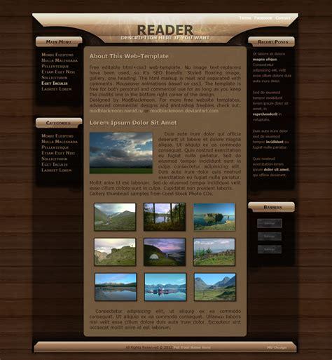 free web page design modblackmoon free grunge html css web template