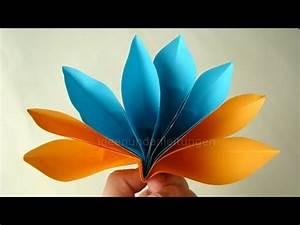 Einfache Papierblume Basteln : papier falten origami blume basteln einfache bl te fr hlingsbasteln youtube ~ Eleganceandgraceweddings.com Haus und Dekorationen