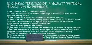 12 characteristics of a quality physical education ...