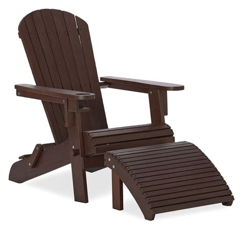 adirondack chair and ottoman amazon com strathwood adirondack chair with cupholder