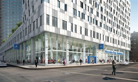 mercedes benz invests   nyc flagship store cartype