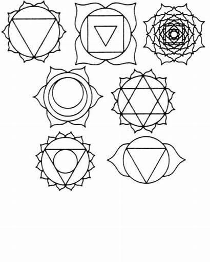 Chakras Chakra Symbols Shapes Things Yoga Coloring