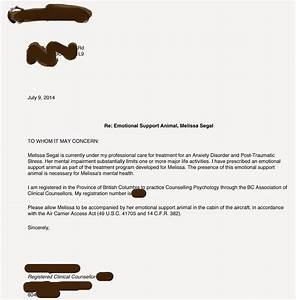 Sample letter for emotional support dog sample business for Service pet letter