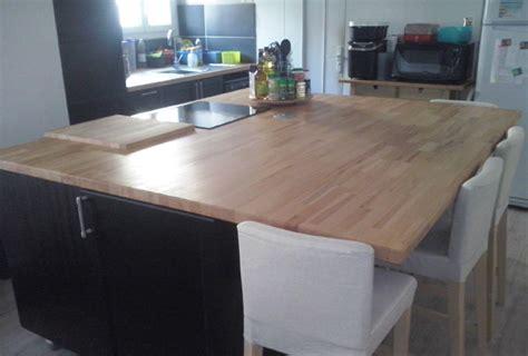caisson ilot cuisine gallery of ilot central plan de travail cuisine with
