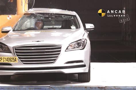Hyundai Genesis Safety Rating by Hyundai Genesis Nov 2014 2017 Crash Test Results Ancap
