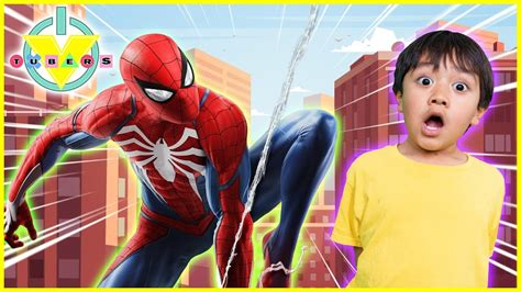 Brand New Marvel's Spiderman Let's Play With Ryan & Daddy
