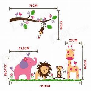 jungle party de chambre sticker mural bebes animaux With affiche chambre bébé avec livraison fleurs frais de port gratuit