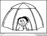 Tent Camping Coloring Pages Drawing Igloo Sheets Clipart Preschool Printable Sheet Colouring Tents Camps Scout Theme Barn Crayon Getdrawings Kid sketch template