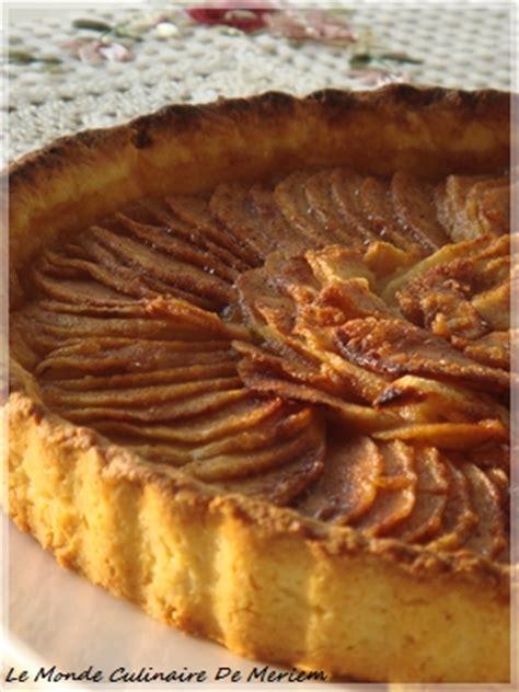 tarte aux pommes pate sablee compote tarte aux pommes et compote le monde culinaire de meriem