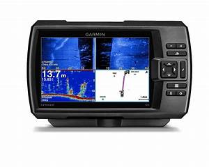 Garmin Striker 7sv Fishfinder 7 U0026quot  Lcd  Gps  Side  Clearvu