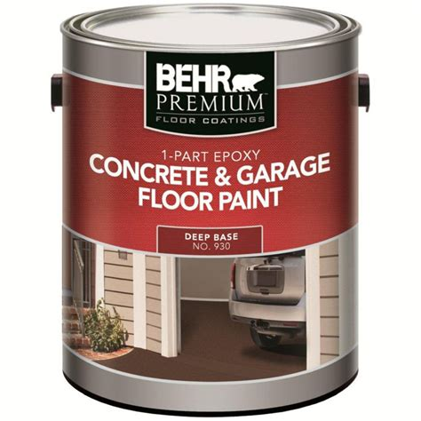 Behr Garage Floor Paint Sealer by Behr Behr Premium Floor Coatings 1 Part Epoxy Concrete