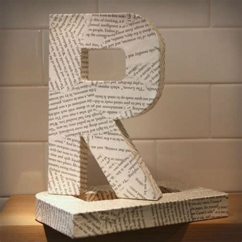 ways  decorate cardboard letters cardboard letters decoupage letters diy letters