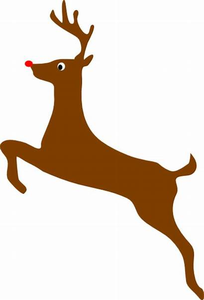 Reindeer Rudolph Nosed Clker Clip Clipart Vector