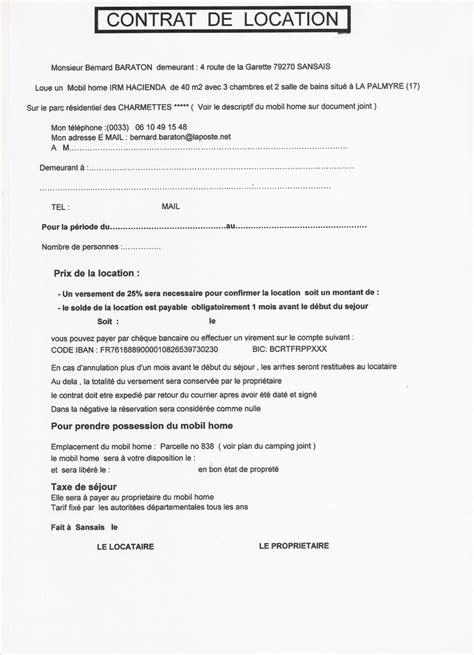 Contrat De Location Locaux Meubles Contrat De Location Non Meubl 233 Uprod
