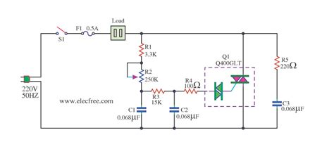 Phase Control Dimmer For Fan All About Circuits
