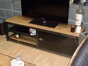 Meuble Tv Métal Industriel Pas Cher : meuble tv industriel bois metal pas cher mobilier design d coration d 39 int rieur ~ Teatrodelosmanantiales.com Idées de Décoration