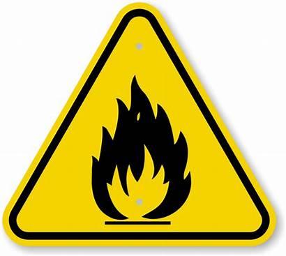 Hazard Warning Fire Symbol Sign Danger Iso