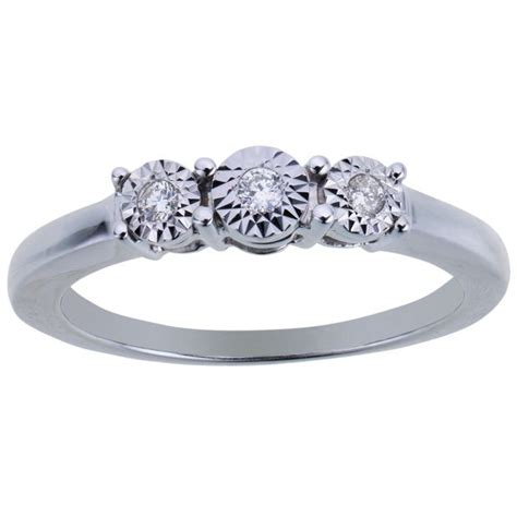 wedding rings argos gold buy miracle sparkle 9ct white gold 0 07ct diamond trilogy ring at argos co uk your online shop