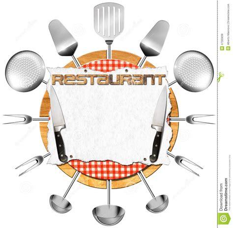 photos d ustensiles de cuisine enseigne de restaurant avec des ustensiles de cuisine