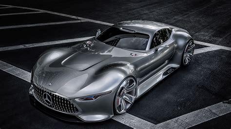Was a supercar but also a grand tourer! Wallpaper Mercedes-Benz AMG Vision, supercar, Gran Turismo, concept, Mercedes, 2015 car, silver ...