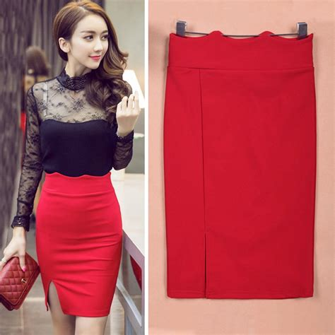 Buy High Waist Pencil Skirt Women Bodycon
