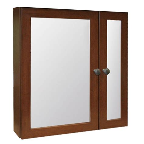 Glacier Bay Medicine Cabinet Mirror by Glacier Bay 24 1 2 In W X 25 3 4 In H Framed Surface