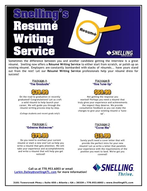 1 hour resume writing services resume writing services flyer