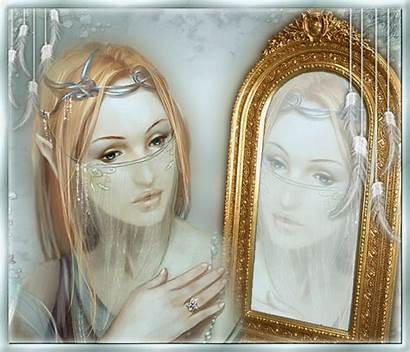 Femme Miroir Reflet Visage Nadie Sentimos Cuando