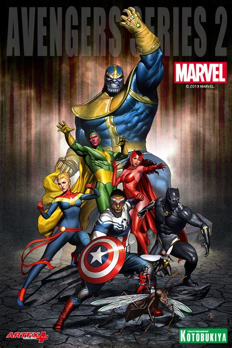 MARVEL COMICS AVENGERS SERIES THANOS ARTFX+ STATUE ...