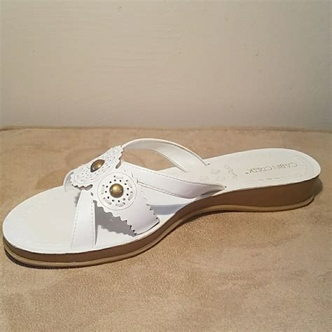 cabin creek shoes cabin creek nwot white sandal with heel from