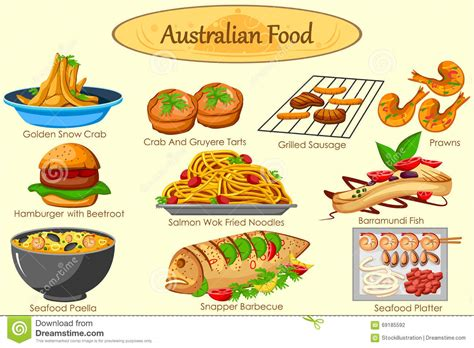 cuisine australienne barramundi illustrations vector stock images