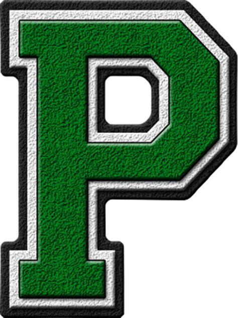 cool letter p presentation alphabets green varsity letter p 20962 | P 400
