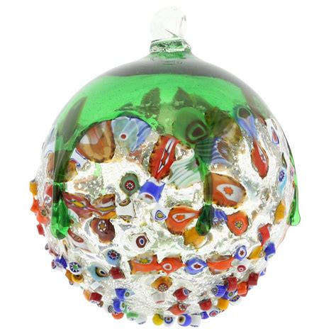 venetian glass christmas tree tree ornaments venetian mosaic murano glass ornament green