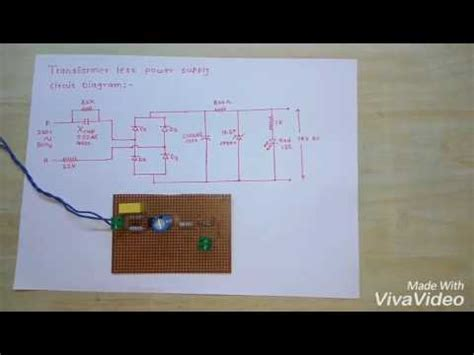 Transformer Less Power Supply With Circuit Diagram Youtube