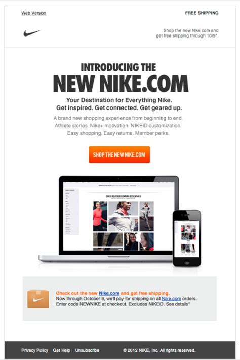 nike newsletter html email marketing design email